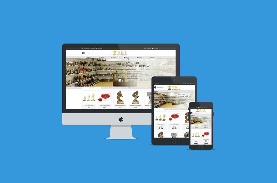2.AKT trophy centre opencart website design